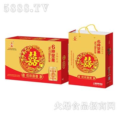 亚宝奇6种坚果谷物饮料罐装礼盒
