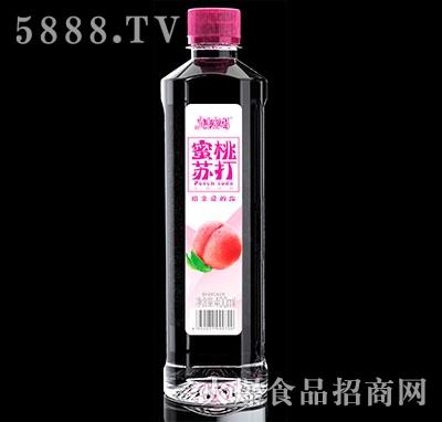 青春密码蜜桃味苏打饮料400ml