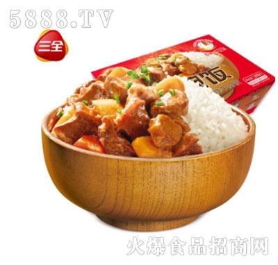 三全一碗饭红烧牛肉375g自加热米饭产品图