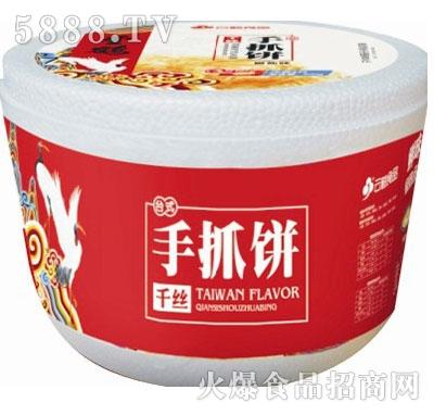 云鹤2.75桶装手抓饼葱香、椒盐、原味产品图