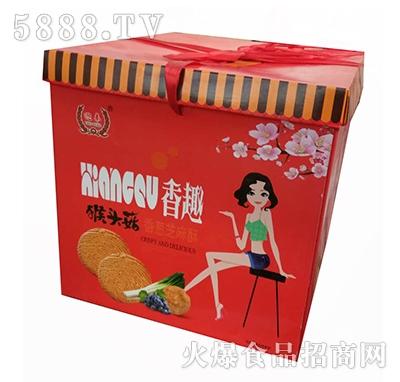 迎奉食品香趣猴菇饼干箱装