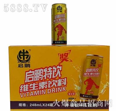 启鹏强化维生素饮料245mlx24罐