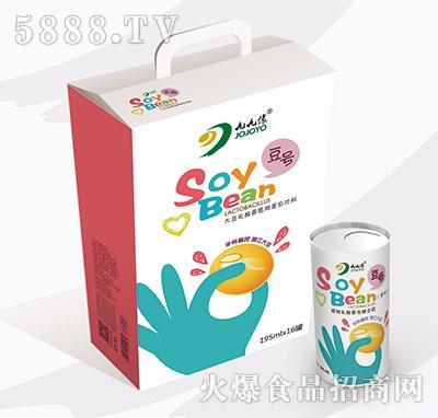 九缘大豆乳酸菌植物蛋白饮品195mlx16罐原味易拉罐