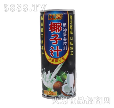 正宗椰子汁植物蛋白饮料238ml