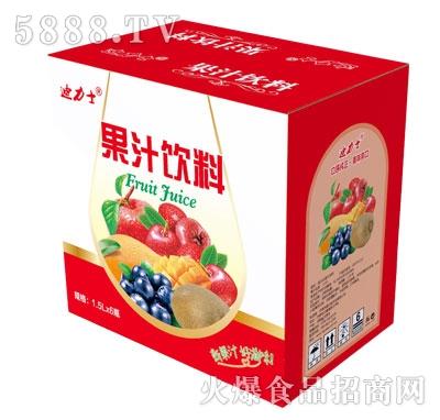 迪力士果汁饮料1.5LX6