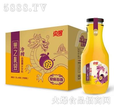 中昱冷榨百香果汁饮料1.5LX6瓶