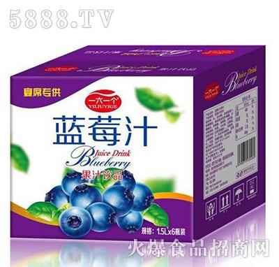 一六一个蓝莓汁1.5Lx6瓶