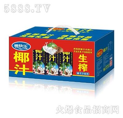 椰快乐椰汁椰子汁饮料开窗礼盒245mlx15罐