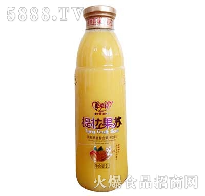 提拉果苏黄桃燕麦果汁饮料1L