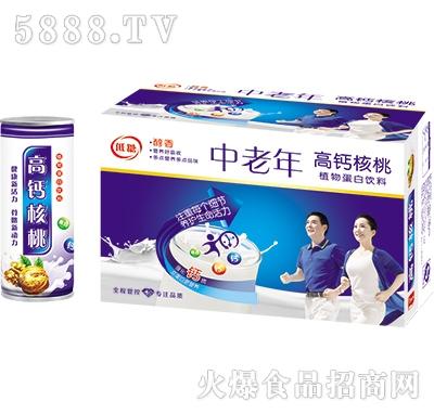 中老年高钙核桃乳240mlx20罐