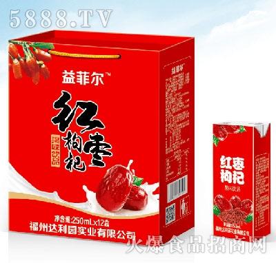 益菲尔红枣枸杞饮品250mlx12盒