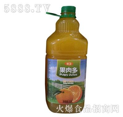 优卫果肉多橙汁2.5L