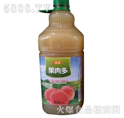 优卫果肉多桃复合果肉饮料2.5L