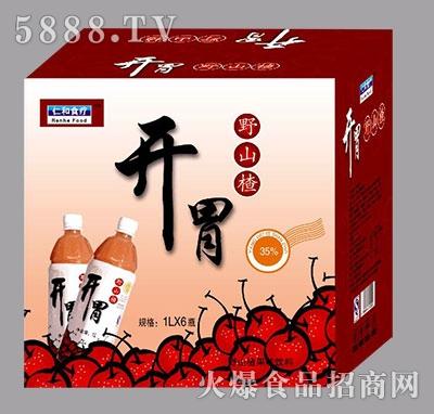仁和食疗开胃野山楂果汁1Lx6瓶