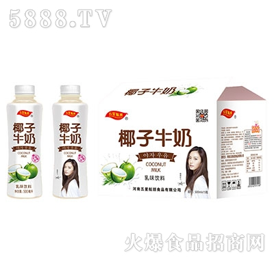 五星航班椰子牛奶乳味饮料500mlx15瓶