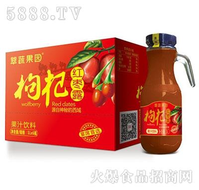翠蔬果园枸杞红枣露果汁饮料1Lx6瓶