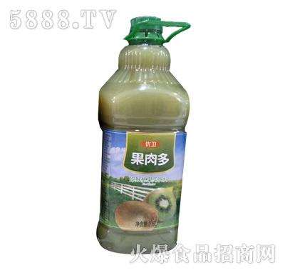 优卫果肉多猕猴桃复合果肉饮料2.5L