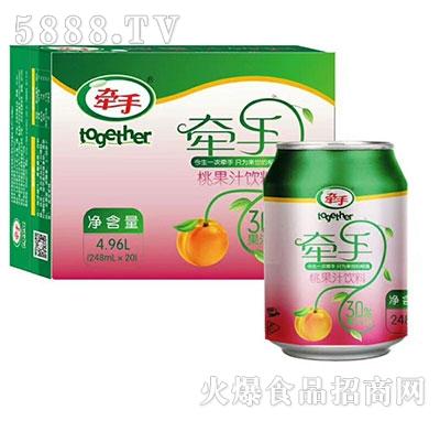 牵手桃果汁饮料248mlx20罐装