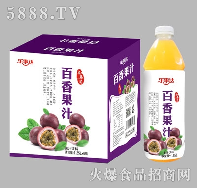 乐事达百香果汁1.25Lx6瓶
