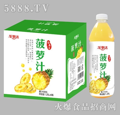 乐事达菠萝汁1.25Lx6瓶