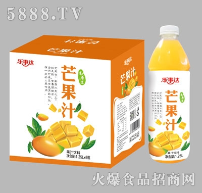 乐事达芒果汁1.25Lx6瓶