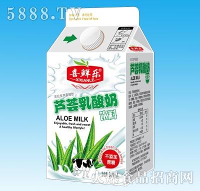 喜鲜乐芦荟乳酸奶饮料500ml