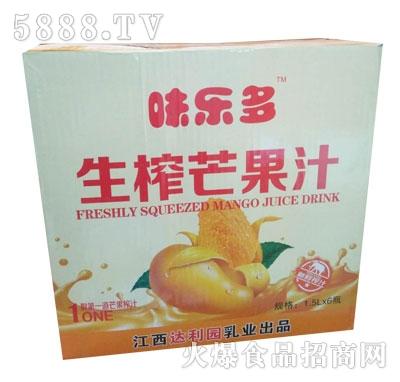 味乐多生榨芒果汁1.5LX6