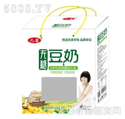 九磨无糖豆奶250mlX12盒