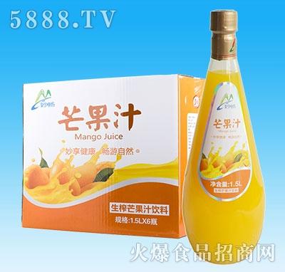 妙畅生榨芒果汁1.5Lx6瓶