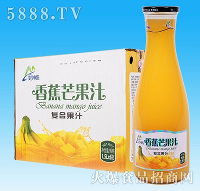 妙畅香蕉芒果汁1.5Lx6瓶