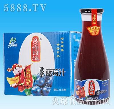妙畅好财运发酵蓝莓汁1Lx6瓶