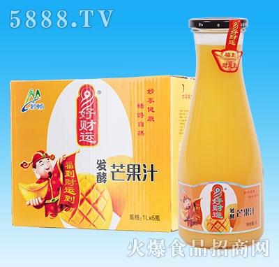 妙畅好财运发酵芒果汁1Lx6瓶