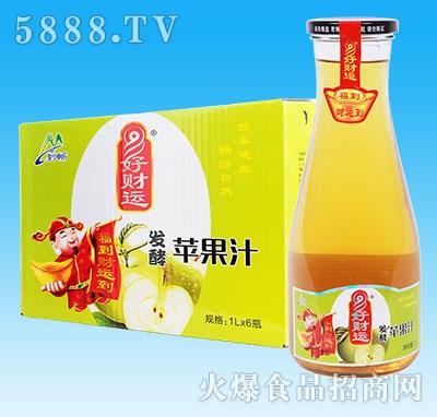 妙畅好财运发酵苹果汁1Lx6瓶