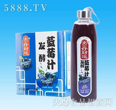 妙畅好财运发酵蓝莓汁958mlx6瓶
