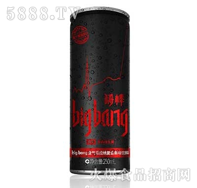 big-bang含气瓜拉纳复合果味饮料250ml(黑罐)