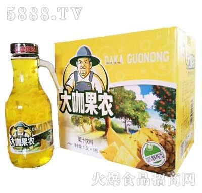 大咖果农菠萝果肉1.5Lx6瓶