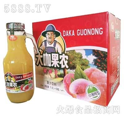 大咖果农蜜桃饮料1.5Lx6瓶