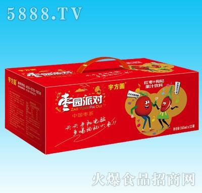 宇方圆枣园派对红枣+枸杞果汁饮料245mlx12罐