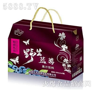 天华源野生蓝莓果汁饮料300mlx8瓶精致礼盒