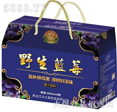 天华源野生蓝莓汁果汁饮料300mlx8瓶