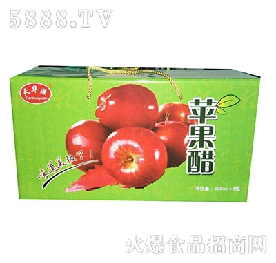 天华源苹果醋汁果汁饮料300mlx8瓶