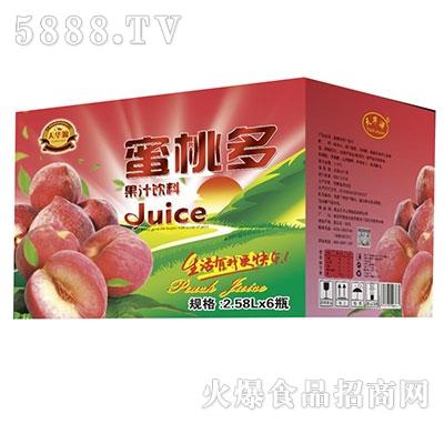 天华源蜜桃多果汁饮料2.58Lx6瓶