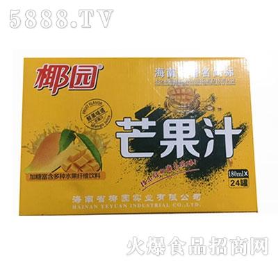 椰园芒果汁果汁饮料180mlx24罐