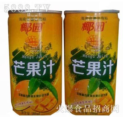 椰园芒果汁果汁饮料180ml