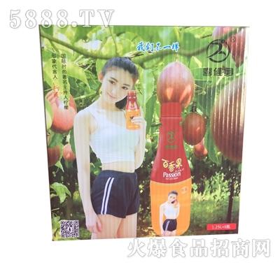 喜健身百香果果汁饮料1.25Lx6瓶