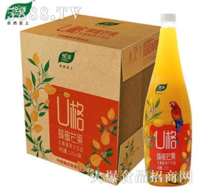 中粮悦活U格蜂蜜芒果乳酸菌果汁饮料1.25Lx6瓶
