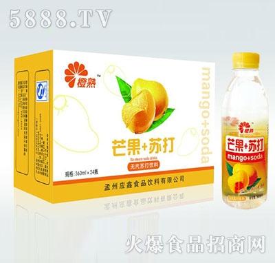 橙熟芒果+苏打无汽苏打水360mlx24瓶