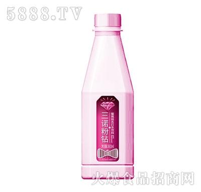 三诺粉钻蜜桃味苏打水饮料360ml