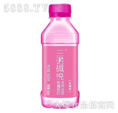 三诺碱悦玫瑰苏打水360ml(玫瑰味)
