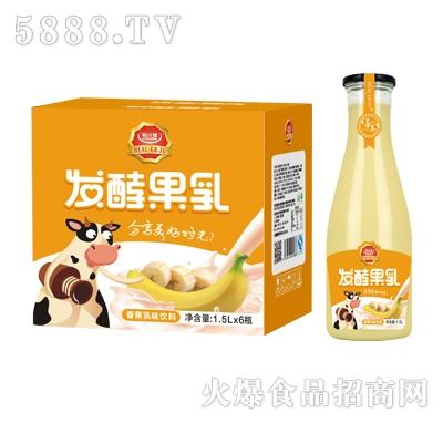 粒汁健发酵果乳香蕉乳味饮料1.5LX6瓶
